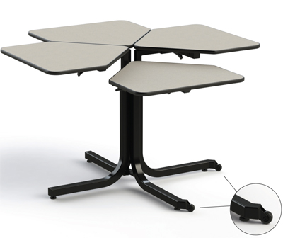 Bariatric Table 4-Person CLover Leaf