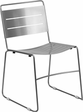 Bariatric Stack Chair All metal Silver Oindoor Outdoor