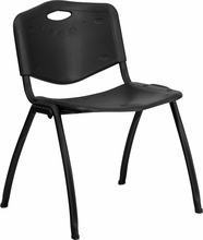 Bariatric Stack Chair Plastic Seat and Back Navy