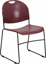 Bariatric Stacking CHair Red Plastic Seat and Back