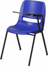 Bariatric Stack Chair, Left-Handed Table,t plastic Shell