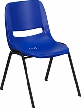 Bariatric Stack Chair Plastic Shell Navy