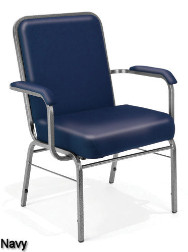 navy Vinyl - Bariatric Stack Chair